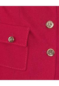 CATERINA - Żakardowa marynarka w kolorze fuksji. Kolor: różowy, wielokolorowy, fioletowy. Materiał: żakard
