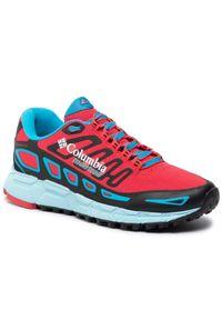 Czerwone buty do biegania columbia na co dzień, z cholewką