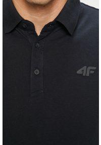 Niebieska koszulka polo 4f krótka, casualowa