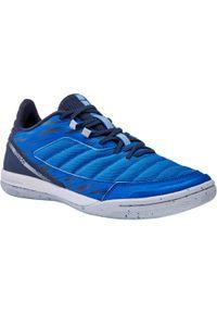 IMVISO - Buty halowe do piłki nożnej damskie Imviso Eskudo 500. Kolor: niebieski, różowy, wielokolorowy. Materiał: kauczuk, materiał. Wzór: gładki