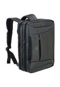 Czarna torba na laptopa RIVACASE casualowa, w paski