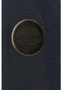 Niebieska kurtka Only & Sons z kapturem, na co dzień, casualowa