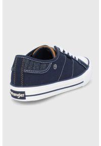 Wrangler - Tenisówki. Nosek buta: okrągły. Zapięcie: sznurówki. Kolor: niebieski. Materiał: guma