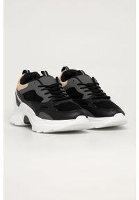 Czarne buty sportowe Answear Lab z okrągłym noskiem, na sznurówki, z cholewką