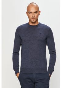 Niebieski sweter Polo Ralph Lauren z długim rękawem, na co dzień