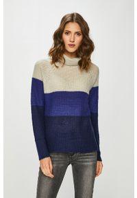 medicine - Medicine - Sweter Vintage Revival. Okazja: na co dzień. Typ kołnierza: golf. Kolor: niebieski. Długość rękawa: raglanowy rękaw. Styl: vintage