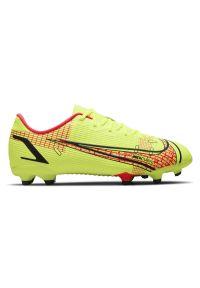 Buty dla dzieci piłkarskie korki Nike Mercurial Vapor 14 Academy FG/MG CV0811. Zapięcie: zamek. Materiał: skóra, materiał, syntetyk. Szerokość cholewki: normalna. Sport: piłka nożna