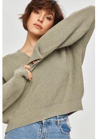 Miętowy sweter Answear Lab długi, wakacyjny, z długim rękawem