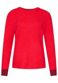 Czerwony sweter klasyczny Calvin Klein