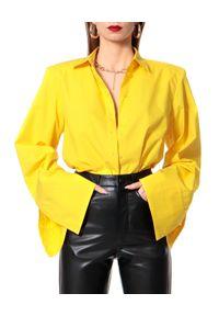 AGGI - Żółta koszula oversizeowa Sasha. Kolor: żółty. Materiał: bawełna