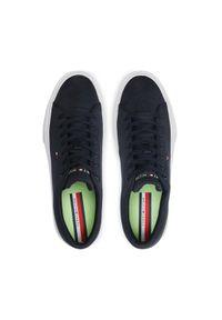 TOMMY HILFIGER - Tommy Hilfiger Tenisówki Lightweight Stripes Sneaker FM0FM03612 Granatowy. Kolor: niebieski