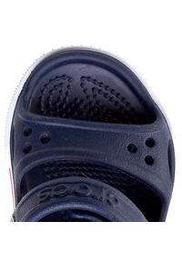 Niebieskie sandały Crocs na rzepy, sportowe