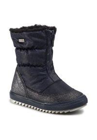 Niebieskie buty zimowe Bartek z cholewką