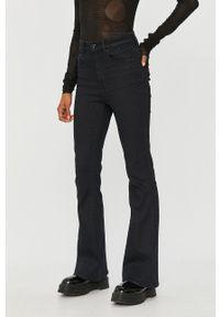 Czarne spodnie materiałowe G-Star RAW z podwyższonym stanem