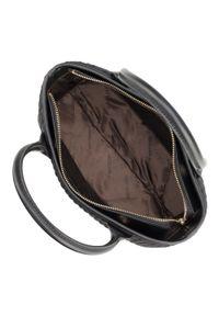 Czarny kuferek Wittchen matowy, w kolorowe wzory
