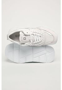 Białe buty sportowe D.A.T.E. na sznurówki, z cholewką