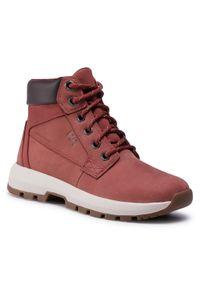 Czerwone buty trekkingowe Helly Hansen trekkingowe, z cholewką