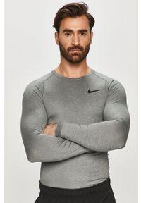 Szara koszulka z długim rękawem Nike gładkie