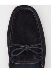 TOD'S - Czarne mokasyny Gommino Driving. Nosek buta: okrągły. Kolor: czarny #3