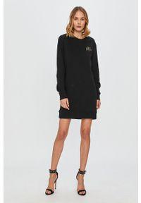 Czarna sukienka Armani Exchange mini, na co dzień, casualowa