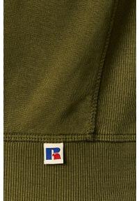 Russell Athletic - Russel Athletic - Bluza. Okazja: na co dzień. Typ kołnierza: kaptur. Kolor: zielony. Styl: casual