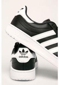 Czarne sneakersy adidas Originals z okrągłym noskiem, z cholewką #5