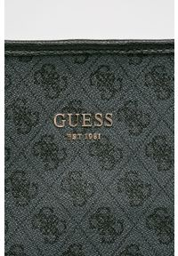 Czarna shopperka Guess skórzana, na ramię