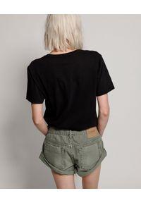 ONETEASPOON - Spodenki khaki Bandits. Stan: obniżony. Kolor: zielony. Materiał: jeans. Wzór: aplikacja, nadruk. Sezon: lato, wiosna. Styl: klasyczny, elegancki