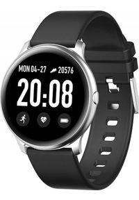 Smartwatch Pacific 25-4 Czarny (PACIFIC 25-4 czarny). Rodzaj zegarka: smartwatch. Kolor: czarny