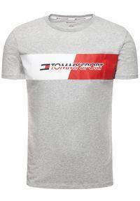 Tommy Sport T-Shirt Flag Graphics S20S200197 Szary Regular Fit. Kolor: szary. Styl: sportowy