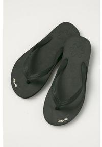 Czarne japonki Flip*Flop na niskim obcasie