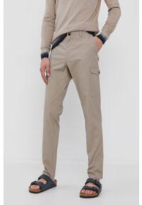 Sisley - Spodnie. Okazja: na co dzień. Kolor: beżowy. Styl: casual