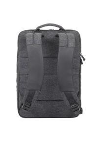 Czarny plecak na laptopa RIVACASE melanż