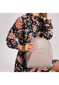Beżowy plecak Wittchen elegancki, gładki