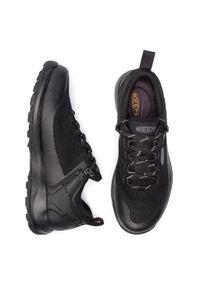 Czarne buty trekkingowe keen z cholewką, trekkingowe