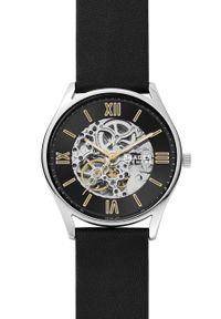Skagen - Zegarek SKW6735. Kolor: czarny. Materiał: skóra, materiał