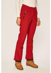 Czerwone spodnie sportowe Killtec snowboardowe