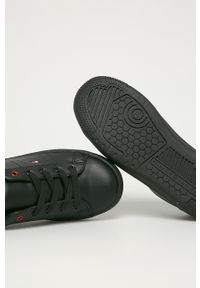 Czarne buty sportowe TOMMY HILFIGER z cholewką, z okrągłym noskiem