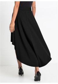 Czarna spódnica bonprix długa, elegancka