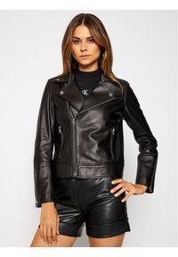 Czarna kurtka skórzana Calvin Klein