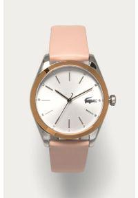 Różowy zegarek Lacoste