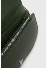 Marc O'Polo - Torebka skórzana. Kolor: zielony. Materiał: skórzane. Rodzaj torebki: na ramię