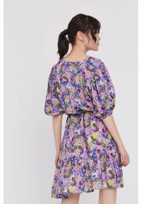 Sukienka medicine z krótkim rękawem, rozkloszowana