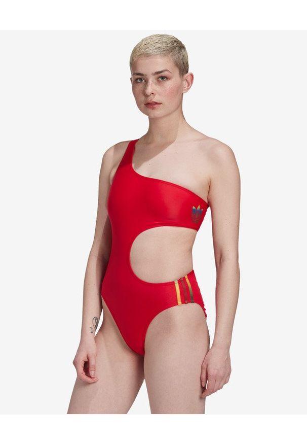 Czerwony strój kąpielowy adidas Originals