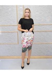 CRISTINAEFFE - Ołówkowa spódnica w kwiatowy print. Kolor: beżowy. Wzór: kwiaty, nadruk