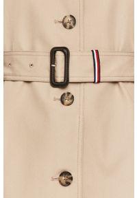 Szary płaszcz TOMMY HILFIGER casualowy, na co dzień, bez kaptura #7