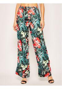 Spodnie materiałowe Guess w kolorowe wzory