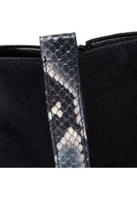 Niebieskie botki Gabor na obcasie, z cholewką, na średnim obcasie #7