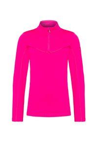 Różowa bluza Descente krótka, z golfem
