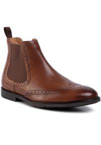 Brązowe buty wizytowe Clarks z cholewką, klasyczne